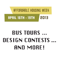 Affordable Housing Week Activities Planned